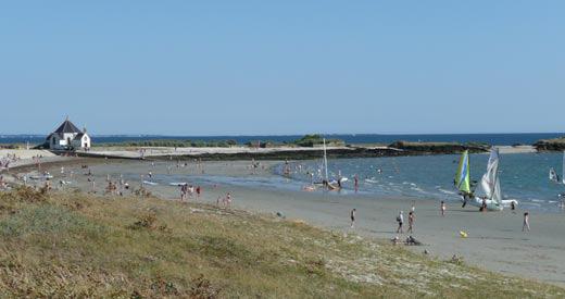 la pointe et la plage Camping La Grée Penvins Sarzeau